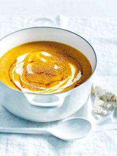 roasted pumpkin, feta and nutmeg soup from donna hay