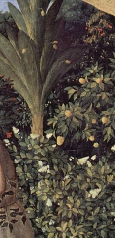 The Annunciation (detail) by Fra Angelico, 1433-34, Madrid, Museo del Prado