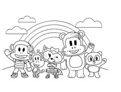 Julius Jr Friends Coloring Sheet Ready For Your Artistic Touch