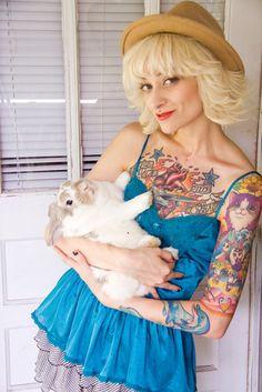 Lisa Frank tattoo sleeve