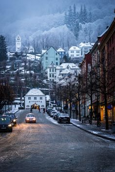 Snowy Bergen, Norway