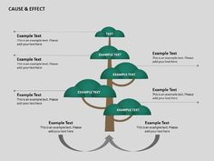 An illustration of cause and effect tree with a clean and playful design for your presentation. #slide #tree #PowerPoint