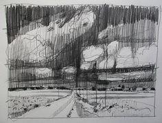 October 25 The Change Original Plein Air Landscape Pencil