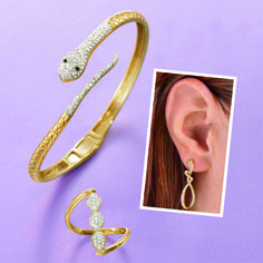 Snake Jewelry in Sterling Silver and Gold Snake Earrings, Snake Jewelry, Animal Jewelry, Drop Earrings, Cuff Bracelets, Bangles, Snakes, Jewlery, Gemstones