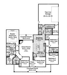 1000 images about floor plan on pinterest house plans for Side load garage house plans
