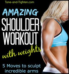 Your next gym day! 5 killer exercises to carve 2 amazing shoulders! #workout #fitness on Tone-and-Tighten.com
