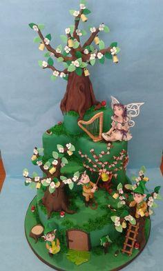 Torta Fate e Folletti in gara al Pisa Cake Festival 2014 By Marcella Tessieri