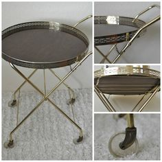Statue of Round Bar Cart Design Options for Serving Drinks