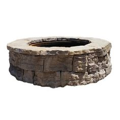 Fire Pit Kit W x L Sandstone Concrete Fire Pit Kit at Lowe's. The round belvedere fire pit kit balances modern convenience and rustic appearance. Manufactured of wet cast concrete, the texture on the blocks Wood Fire Pit, Concrete Fire Pits, Stone Fire Pits, Metal Fire Pit Ring, Fire Ring, Fire Pit Essentials, Outside Fire Pits, Easy Fire Pit, Cheap Fire Pit