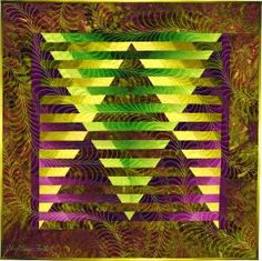 Illusion #50 © 2012 art quilt by Caryl Bryer Fallert, Paducah KY