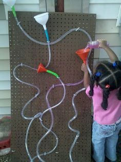 Make a pegboard water wall. | 39 Coolest Kids Toys You Can Make Yourself