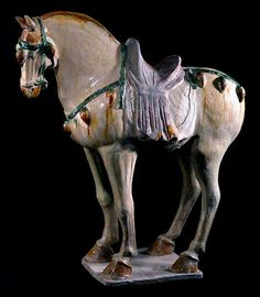 Tang Sancai-Glazed Horse - H.676  Origin: China  Circa: 618 AD to 907 AD            The Barakat Gallery, Publication Volume XXXII