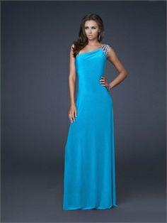 Column One Shoulder with Beadings Floor Length Prom Dress PD10969 www.dresseshouse.co.uk £99.0000