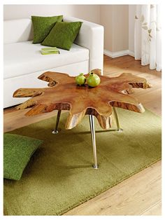 Meubles en bois - Table en racine — chez helline.fr