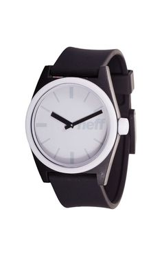 Neff Duo Watch Black White Silicone Rubber Adjustable Band Water Resistant  #Neff #Fashion