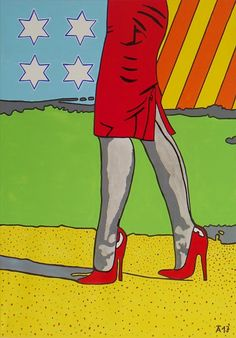 "Allesandra Tiller ""Walking in the Park"" 2017   70 x 100 cm - Acryl auf Leinwand"