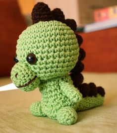 Artefleur - Crocheted items, paintings and drawings: amigurumi, crochet tutorial dinosaur - homemade toys