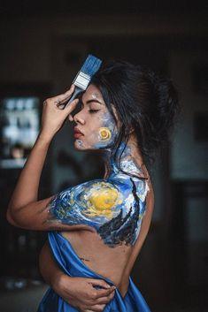 Painter Photography, Creative Portrait Photography, Creative Portraits, Photography Editing, People Photography, Girl Photography, Fotografie Portraits, Creative Photoshoot Ideas, Shotting Photo