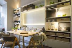 modern Dining room by Estudio de iluminación Giuliana Nieva Kitchen Nook, Kitchen Ideas, Dining Nook, Home Office, Ideal Home, New Homes, Bar, Interior Design, Room