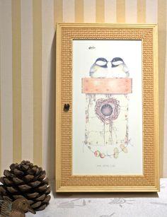 Schlüsselkasten Holz, gebeizt  und mit Glas von Freude am Wohnen - Wohnen mit Freude auf DaWanda.com