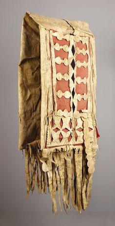 AN APACHE RAWHIDE DOUBLE SADDLE BAG. . c. 1880. ... American Indian | Lot #77042 | Heritage Auctions