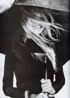 Umbrella Fashion Photography Gemma Ward Vogue Italia