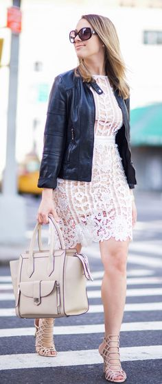 #summer #outfits  Strolling Through SoHo ✔️ I've Been Obsessing With Lace Dresses Lately Sooooo Naturally