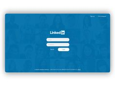 LinkedIn Login / Sign up Page