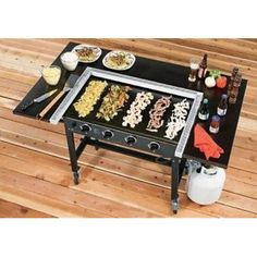 Blackstone Griddle Cooking Station Image 2 of 4 Propane Griddle, Stove Top Griddle, Griddle Grill, Bbq Grill, Outdoor Hibachi Grill, Backyard Kitchen, Outdoor Kitchen Design, Summer Kitchen, Outdoor Kitchens