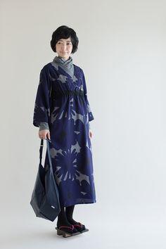 【予約】モスリン みたて衣/おおらか 利休鼠×群青色(※9月中旬発送予定) - SOU・SOU netshop (ソウソウ) - 『新しい日本文化の創造』
