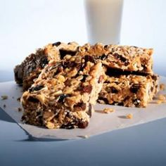 Peanut Energy Bars Recipe from @EatingWell Magazine