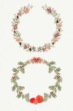 Watercolor Christmas Wreath - Illustrations - 2