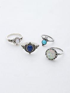 Shop Gemstone Detail Ring Set online. SheIn offers Gemstone Detail Ring Set & more to fit your fashionable needs.