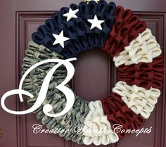 Rustic Monogram Air Force Wreath by CreativWreathConcept on Etsy