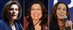 PHOTO: Catherine Cortez Masto, Tammy Duckworth and Kamala Harris won their Senate races respectively in Nevada, Illinois, and California.