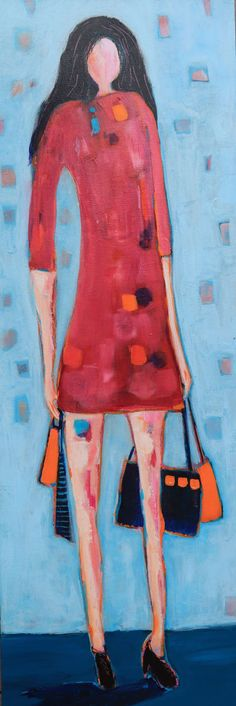Shopping Diva | Artwork Archive Painting Edges, Simple Art, Figure Painting, Diva, Abstract, Figurative, Artwork, Archive, Inspiration