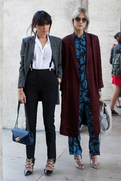 Blogger Linda Tol (right). Photo: Emily Malan/Fashionista.