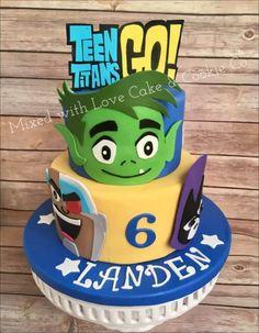 Teen Titans Birthday Cake