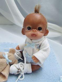 Baby Boy Orangutan Polymer clay doll