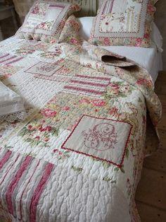 Couvre lit patchwork - Dessus de lit, boutis, plaid et rideaux assortis, notre…