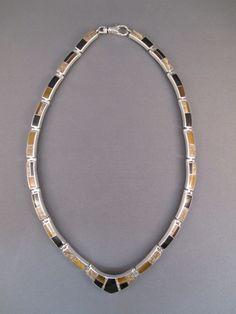 Indian Navajo Native American Inlay Jewelry Necklace native american jewelry