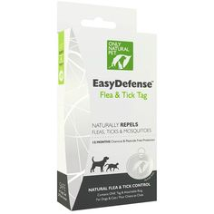 CLICK ON IMAGE TO BUY: The Only Natural Pet EasyDefense Flea & Tick Tag is a safe, chemical-free way to keep harmful pests off of your pet. Using state of the art holistic technology, the EasyDefense Flea & Tick Tag utilizes your pet's own bio-energy to create a natural preventative to biting insects, including fleas, ticks, and mosquitoes. There are no dangerous chemicals or harmful pesticides involved. It is completely safe for pets and humans in the household.