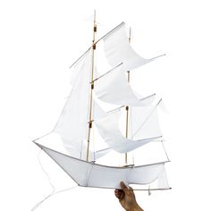 Sailing Ship Kite - white from Haptic Lab -- I would decorate a nursery with these.