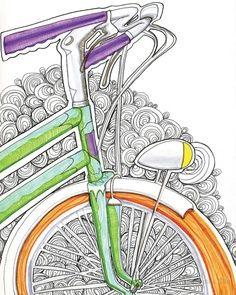 de una bicicleta colorida