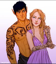 Feyre and Rhys by Meabhd