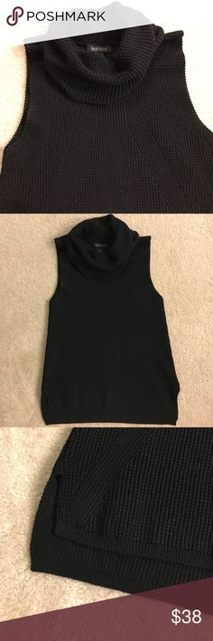 White House Black Market Cowl Neck Top Super fashionable knit top with the perfect cowl neck! Perfect to pair with outerwear that you don't want to bulk up with sleeves. Never worn! ***NOT FP*** Free People Sweaters