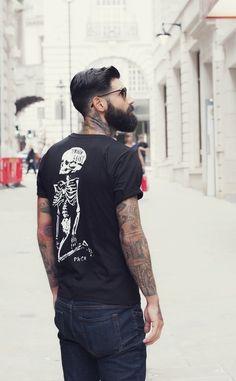 black full beard beards bearded man men style stylish tattoo tattoos tattooed #beardsforever