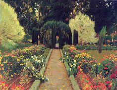 Santiago Rusiñol Prats. Santiago Rusiñol (1861 - 1931) was a Spanish/Catalan modernist painter, author, and playwright