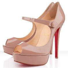 Christian Louboutin Bana 140mm Patent Leather Pumps Nude Red Sole Shoes