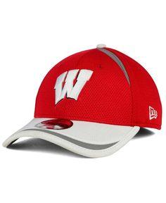 New Era Wisconsin Badgers Stripe Stretch 39THIRTY Cap